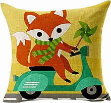 Leinen Kissen Fall, Lovely Fox Muster Rest