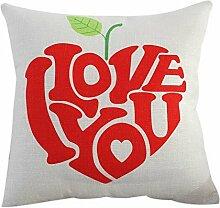 Leinen Kissen Sofa Auto Dekoration Kissen Für Valentinstag Ich Liebe Dich HQ10