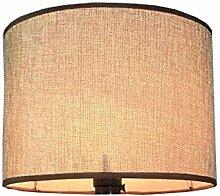 Leinen Lampenschirm,E27 Gewidmet, Beige, Braun,