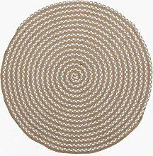 Leinen Manuell Weave Kinderzimmer Runde Teppich