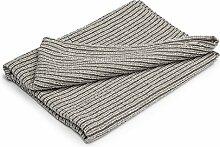 Leinen-Mischgewebe Bad Handtuch/Blatt–Made in Baltischer Region–Rot und Gelb–geprüft–für Hände, Gesicht–Sauna, Spa, Fitnessraum verwendet, weiß, 130x150 cm