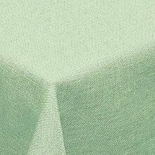 Leinen Optik Tischdecke Eckig 130x160 cm Hellgrün
