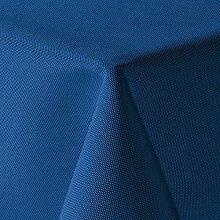 Leinen Optik Tischdecke Eckig 130x260 cm Blau ·