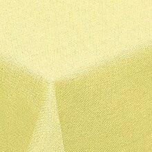 Leinen Optik Tischdecke Eckig 130x260 cm Gelb ·