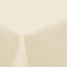Leinen Optik Tischdecke Eckig 135x200 cm Champagner Creme · Eckig Farbe wählbar mit Lotus Effekt - Wasserabweisend