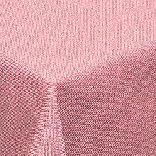 Leinen Optik Tischdecke Eckig 160x160 cm Rosa Hell