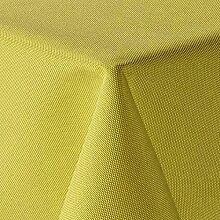 Leinen Optik Tischdecke Eckig 160x260 cm Gelb ·