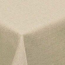 Leinen Optik Tischdecke Eckig 160x320 cm Beige