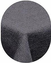 Leinen Optik Tischdecke Oval 130x220 cm Grau bzw.
