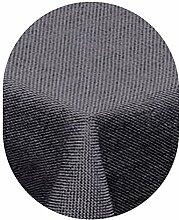 Leinen Optik Tischdecke Oval 135x180 cm Grau bzw. Anthrazit · Oval Farbe & Größe wählbar mit Lotus Effekt - Wasserabweisend