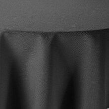 Leinen Optik Tischdecke Oval 160x260 cm Grau bzw.