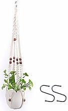Leinen Pflanzenaufhänger Hängen Korb Blumenampel