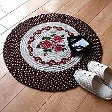 Leinen runder Stoff Wohnzimmer Computer Stuhl rutschfeste Matten ro