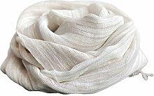 Leinen Schal Dünnen Abschnitt Baumwolle und