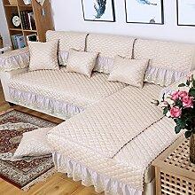 Leinen-sofa-matte/Stoffe,Europäisch,Vier Jahreszeiten,Sofa Setzt/Modernes Sofa-handtuch/Sommer-sofa-matte-B 100x100cm(39x39inch)