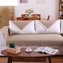 Leinen Sofas Serviette/Stoff rutschfeste Leinen Sofa Handtuch-E 90x180cm(35x71inch)