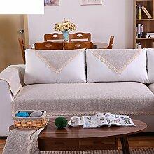 Leinen Sofas Serviette/Stoff rutschfeste Leinen Sofa Handtuch-B 90x240cm(35x94inch)