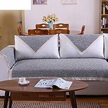 Leinen Sofas Serviette/Stoff rutschfeste Leinen Sofa Handtuch-C 90x90cm(35x35inch)