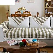 Leinen Sofas Serviette/Stoff rutschfeste Leinen Sofa Handtuch-H 70x70cm(28x28inch)