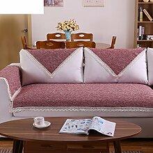 Leinen Sofas Serviette/Stoff rutschfeste Leinen Sofa Handtuch-D 70x240cm(28x94inch)