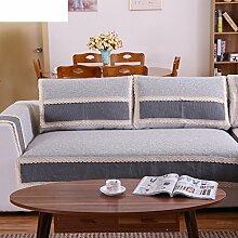 Leinen Sofas Serviette/Stoff rutschfeste Leinen Sofa Handtuch-F 90x120cm(35x47inch)