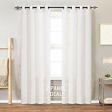 Leinen-Strukturierter Vorhang für Schlafzimmer,