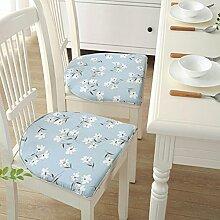 Leinen Stuhl Kissen Anti-Rutsch Sitzfläche Deko Kissen Stuhl Pads für Eßzimmer Home Office U-Form Lily-2