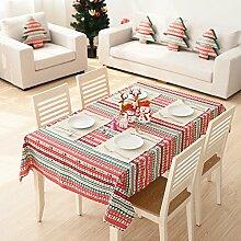 Leinen Tischdecke/Baumwolle Abdeckung Couchtisch Tisch Serviette-A 140x140cm(55x55inch)