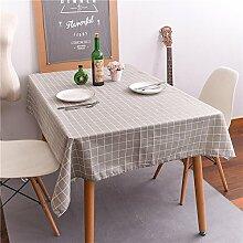 leinen tischdecke gitter Festliche lieferungen Hotel Couchtisch Geschirr staub tuch , brown , 120*160cm