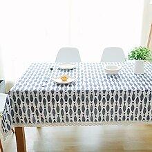Leinen Tischdecke,Ländliche Saubere Tischdecke,Couchtisch Runde Tischdecke Stil Tuch Tapete-A 90x90cm(35x35inch)