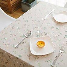 Leinen Tischdecke,Ländliche Saubere Tischdecke,Couchtisch Runde Tischdecke Stil Tuch Tapete-L 140x200cm(55x79inch)
