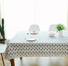 Leinen Tischdecke,Ländliche Saubere Tischdecke,Couchtisch Runde Tischdecke Stil Tuch Tapete-J 90x90cm(35x35inch)