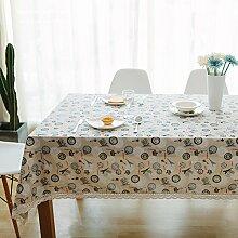 Leinen Tischdecke,Ländliche Saubere Tischdecke,Couchtisch Runde Tischdecke Stil Tuch Tapete-G 140x140cm(55x55inch)