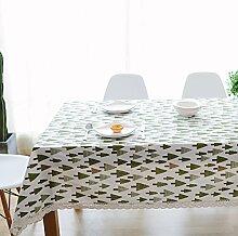 Leinen Tischdecke,Ländliche Saubere Tischdecke,Couchtisch Runde Tischdecke Stil Tuch Tapete-F 60x60cm(24x24inch)