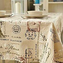 Leinen tischdecke,stoff-tischdecke,tischtuch,rechteckiger tisch mat-A 140x140cm(55x55inch)