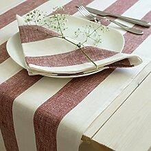 Leinen Tischläufer - Läufer - Tischtuch - Tischband - Rot - 100% Leinen - 50 x 180 cm/ Varvara Home 1653