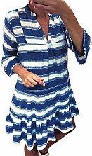 Leinenkleid Damen Tunika T Shirt Kleid Baumwolle