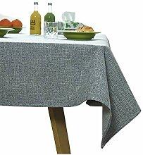 Leinenoptik Tischtuch,Tischdecke Wasserabweisend