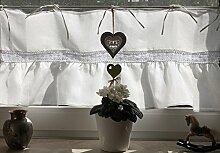 Leinenshop24 Bistrogardine Kurzgardine Vorhang