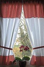 Leinenshop24 Landhaus Gardinen Set 2 St + 2