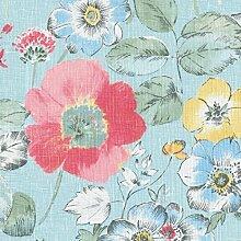 Leinenstoff | Die prachtvollen Blumen -