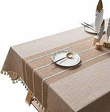 Leinenstoff Tischdecke - exquisite Jacquard