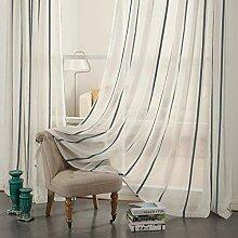 Leinenstreifenmuster Gardinen, transparente