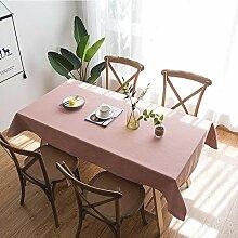 leinenTischdecke rosa Tischset Staubtuch