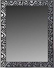 Leinwände Levante da0001–6–Spiegel Bad/Flur Dekoration, 96x 75cm, Schwarz/Silber