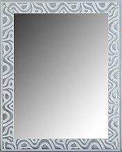 Leinwände Levante DA0002–7–Spiegel Deko Bad/Flur, 115x 75cm, weiß und silber