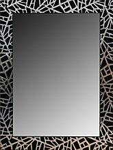Leinwände Levante Spiegel Bad/Flur Dekoration, Holz, Schwarz, 116x 76cm