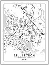 Leinwand Bild,Norwegen Lillestrom Stadtplan