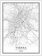 Leinwand Bild,Österreich Wien Stadtplan Einfache