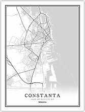 Leinwand Bild,Rumänien Constanta Stadtplan